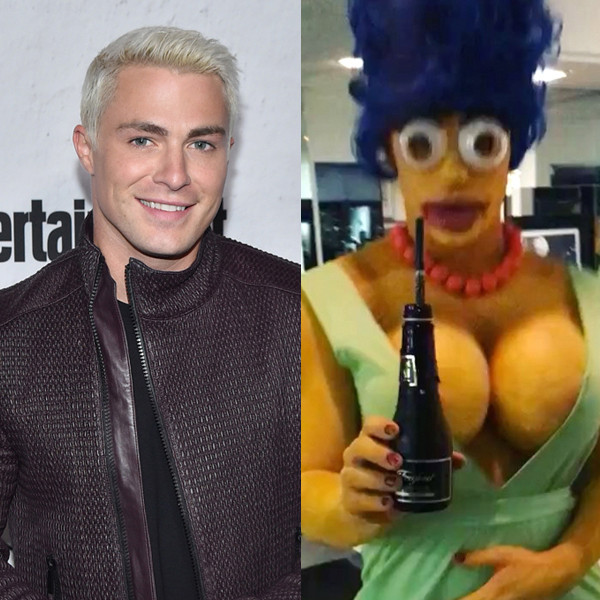 Colton Haynes, Marge Simpson, Halloween 2017