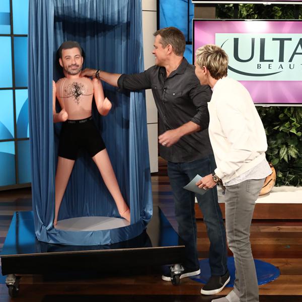 Matt Damon, Jimmy Kimmel, Ellen DeGeneres
