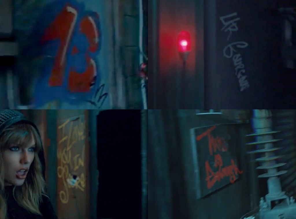 Taylor Swift, Music Video Writing On The Wall