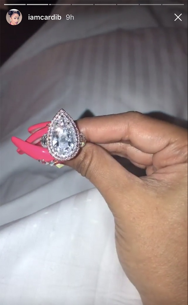 Cardi B, Offset, Engagement Ring