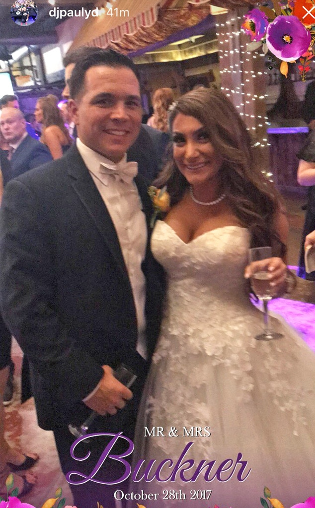Deena Cortese, Christopher Buckner, wedding