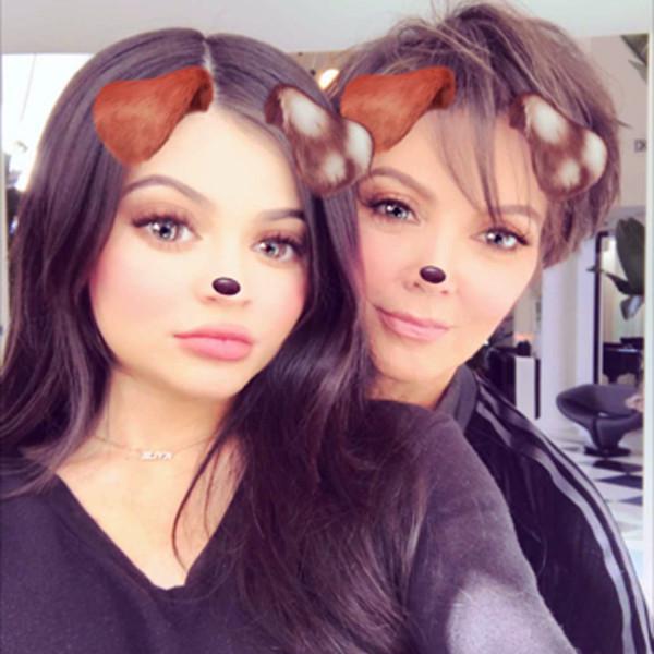 Kylie Jenner, Kris Jenner, Snapchat