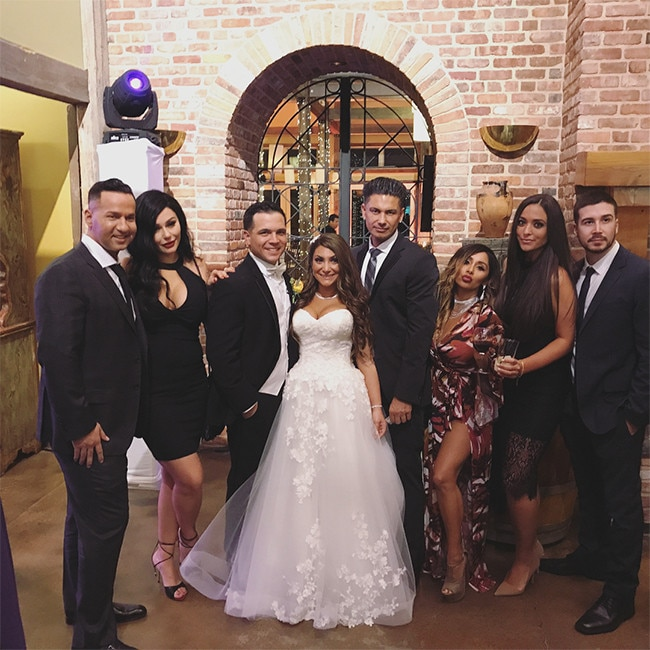 Inside Deena Cortese S Wedding What A Jersey Shore Reunion E News