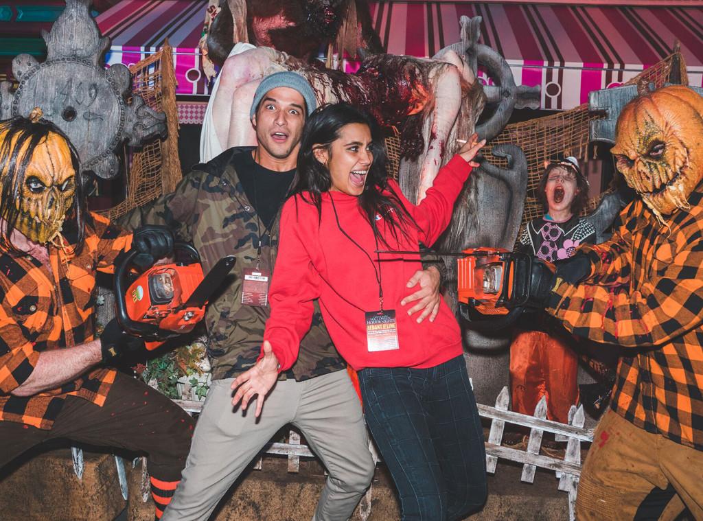 Tyler Posey, Sophia Taylor Ali, Halloween 2017