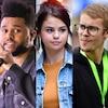 The Weeknd, Selena Gomez, Justin Bieber