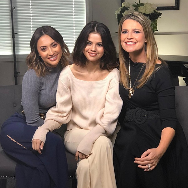 Francia Raisa, Selena Gomez, Savannah Guthrie, Today