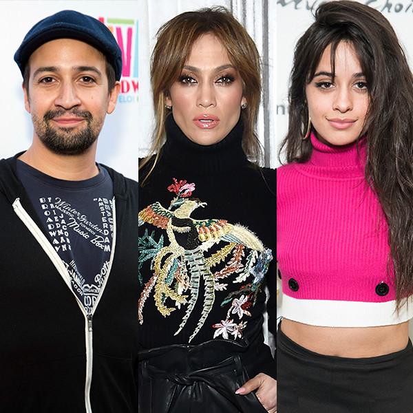 Lin Manuel Miranda, Jennifer Lopez, Camila Cabello