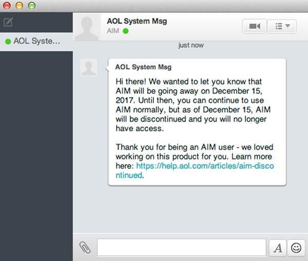 AOL Instant Messenger, AIM