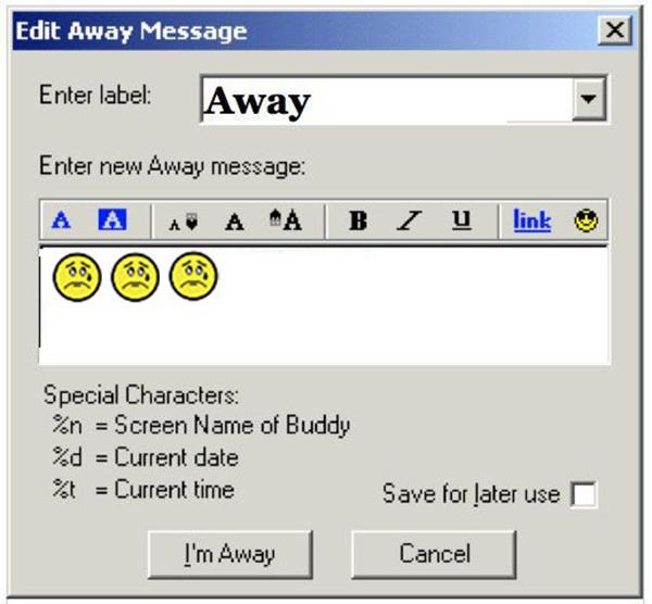 Aol Instant Messenger Buddy List