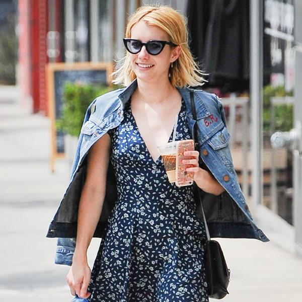 Shop Emma Roberts' Customized Jean Jacket
