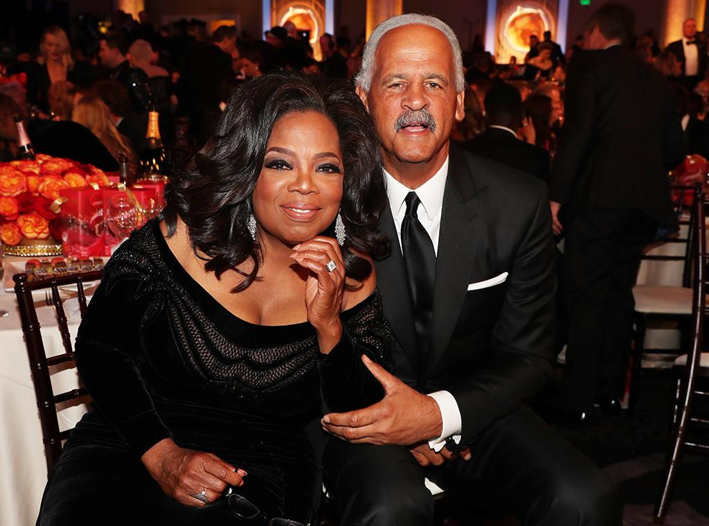 Oprah Winfrey, Stedman Graham, 2018 Golden Globe Awards