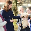 Kate Middleton Makes a Furry Friend for First Official Appearance of 2018