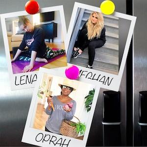 Wellness Graphic, Healthier Than Ever, Oprah Winfrey, Meghan Trainor, Lena Dunham