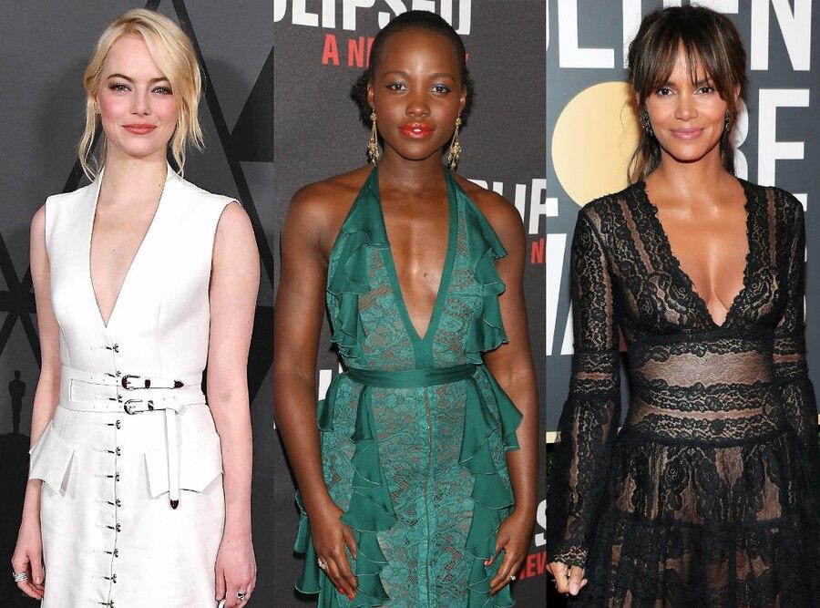 Emma Stone, Lupita Nyong'o, Halle Berry
