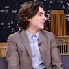 """Timothée Chalamet Recalls Meeting Angelina Jolie and Jennifer Aniston at the Golden Globes: """"Which Side Are We On?"""""""