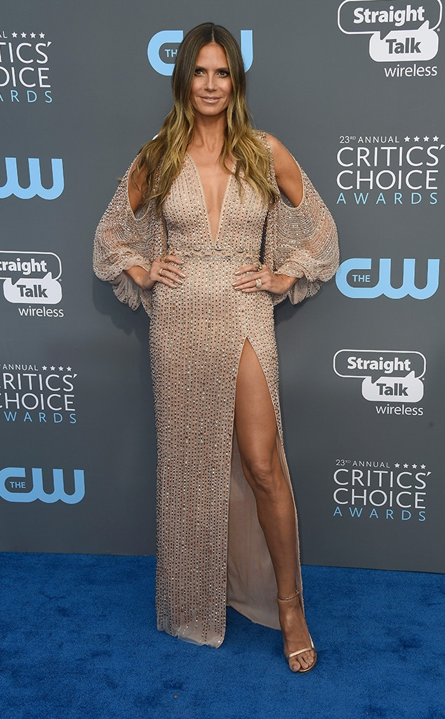 Heidi Klum, 2018 Critics' Choice Awards