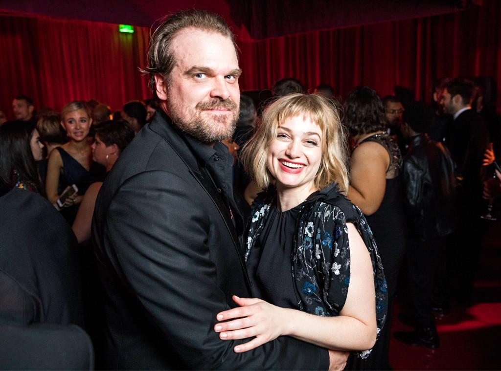 David Harbour, Alison Sudol, Netflix Golden Globes party