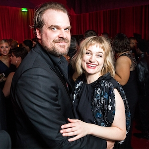 David Harbour, Alison Sudol, Netflix Golden Globes party