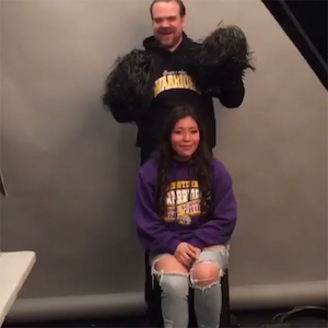 David Harbour, Damaris Fregoso, High School Senior Photo, Stranger Things