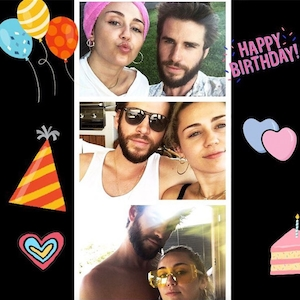 Miley Cyrus, Liam Hemsworth, Instagram