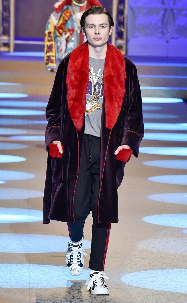 Jack Marsden, Dolce & Gabbana, Milan Menswear Fashion Week 2018