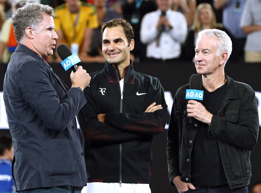 Will Ferrell asks Roger Federer: 'Are you a vampire?'