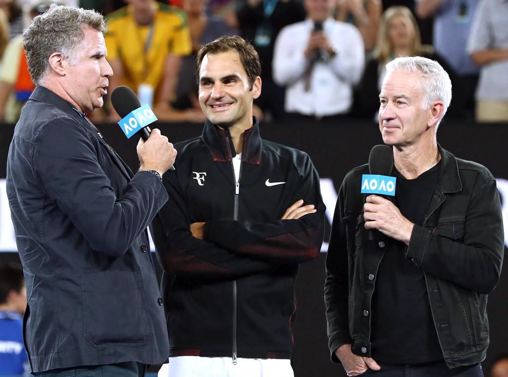 Will Ferrell, John McEnroe, Roger Federer