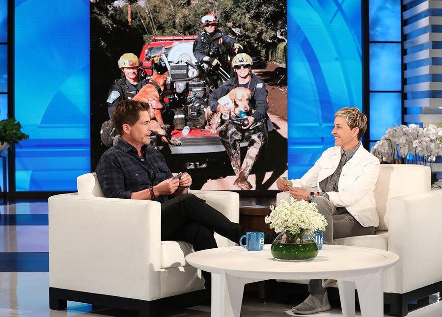 Rob Lowe Updates Ellen DeGeneres On Relief Efforts In Montecito