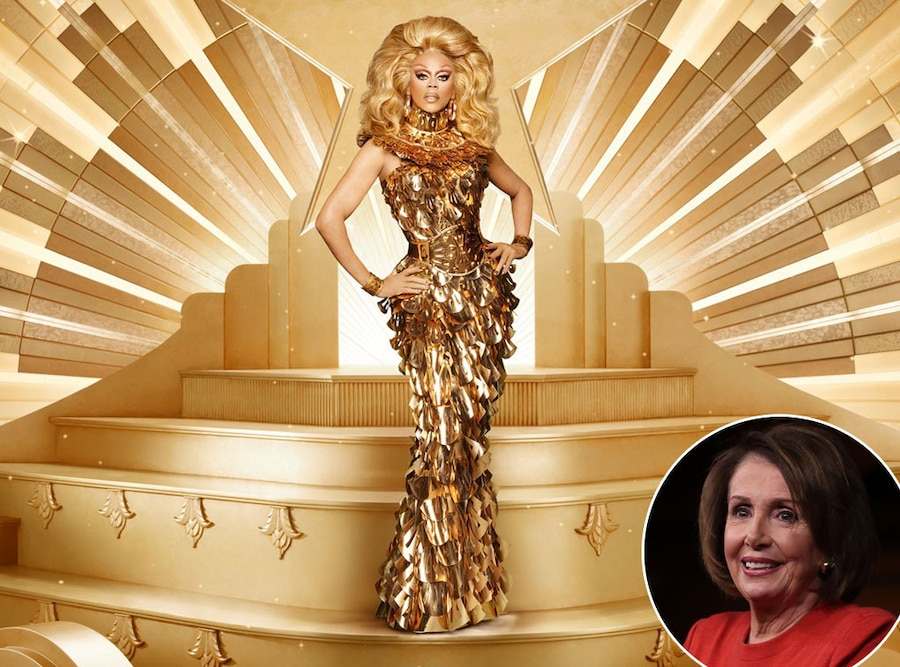 RuPaul's Drag Race All Stars Guest Judges Include Nancy Pelosi (Yes, For Real), Vanessa Hudgens, Tituss Burgess And More