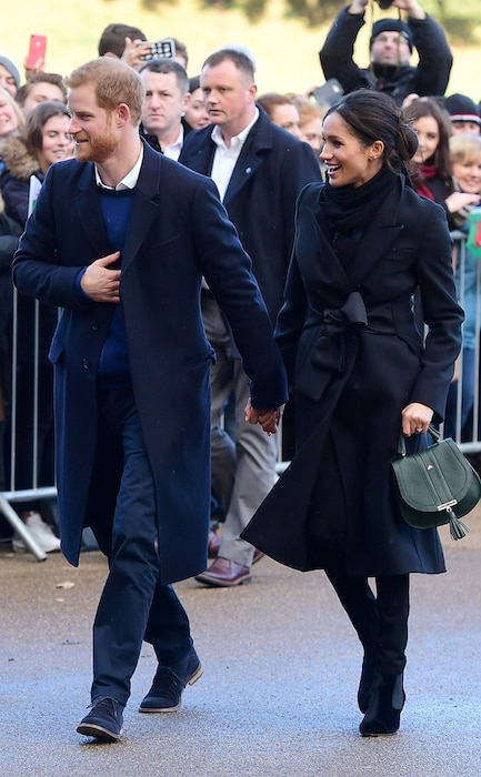 Meghan Markle And Prince Harry Arrive In Cardiff Fashionably Late