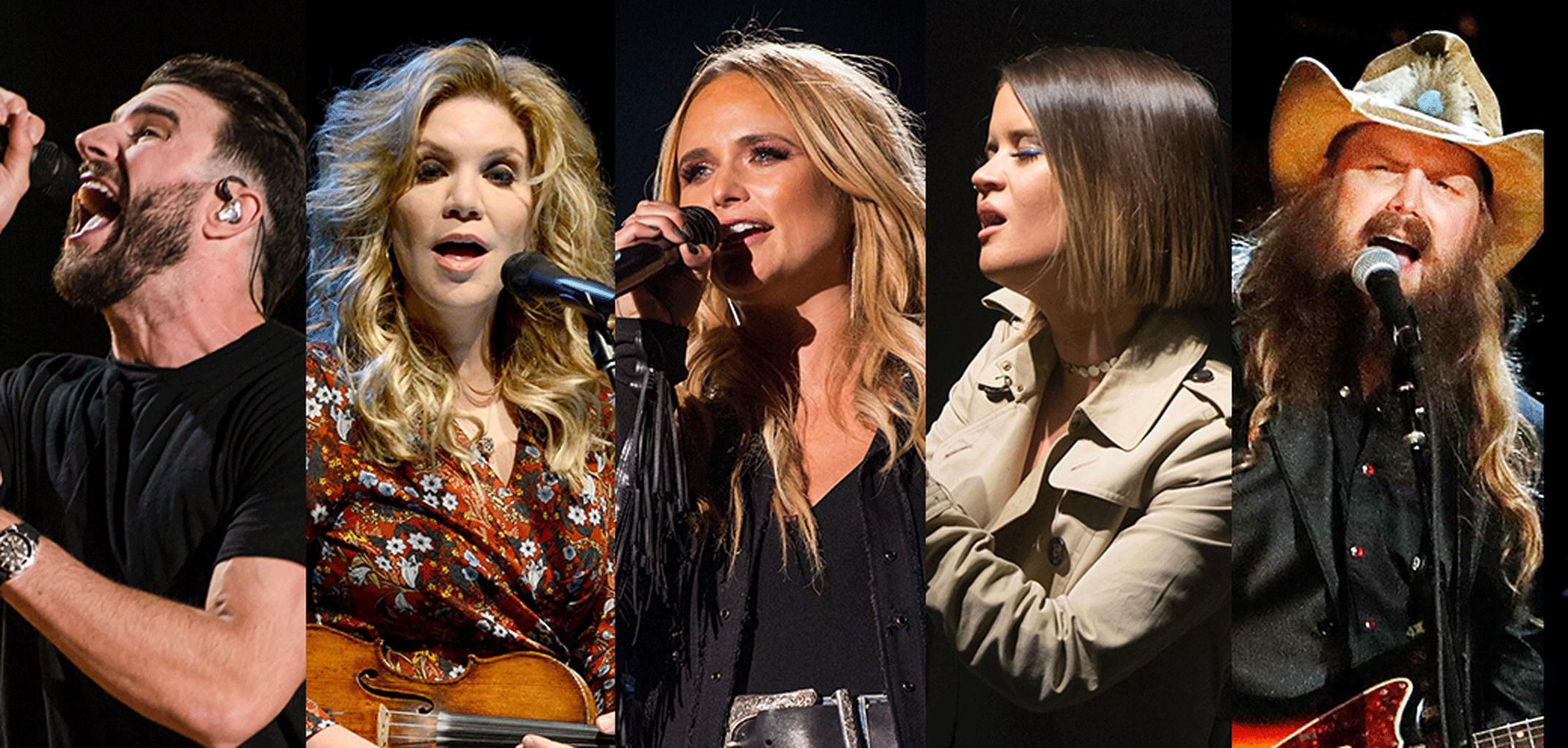 Grammy 2018 Splits, Best Country Solo Performance: Sam Hunt, Alison Krauss, Miranda Lambert, Maren Morris, Chris Stapleton