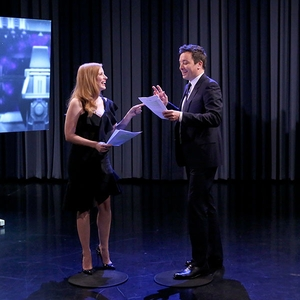 Jessica Chastain, Jimmy Fallon, The Tonight Show