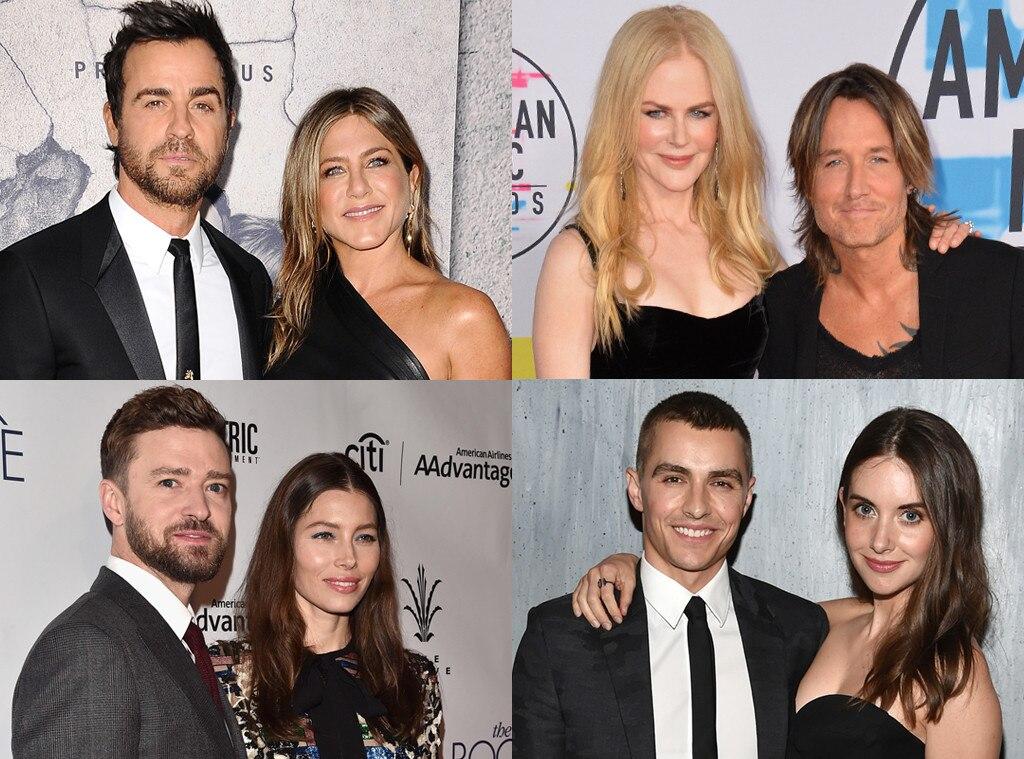 Golden Globes Polls, Power couple, Justin Timberlake, Jessica Biel, Jen Aniston, Justin Theroux, Dave Franco,Alison Brie, Nicole K