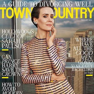 Sarah Paulson, Town & Country, February 2018