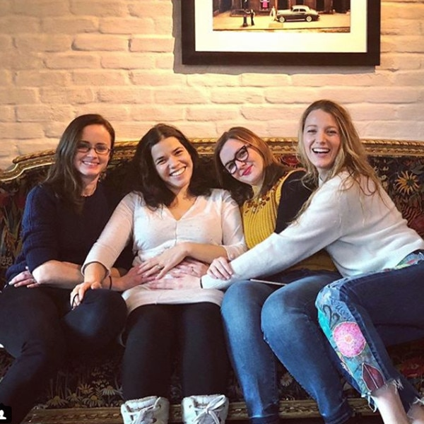America Ferrera Celebrates Pregnancy With 'Sisterhood of the Traveling Pants' Reunion