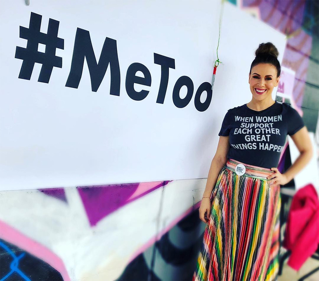 Alyssa Milano, Women's March 2018