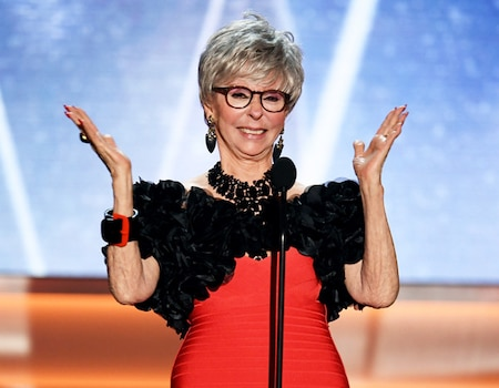 Rita Moreno Overwhelmed With Emotion During Standing Ovation at 2018 SAG Awards