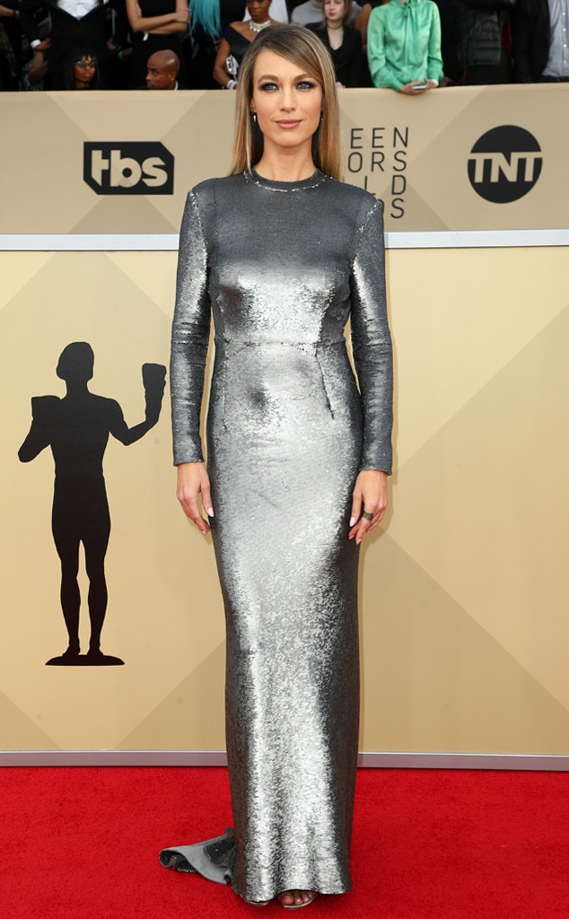 2018 SAG Awards Red Carpet Fashion Natalie Zea, 2018 SAG Awards, Red Carpet Fashions