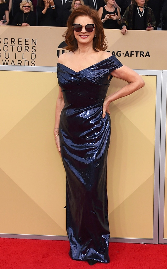 2018 SAG Awards Red Carpet Fashion Susan Sarandon, 2018 SAG Awards, Red Carpet Fashions