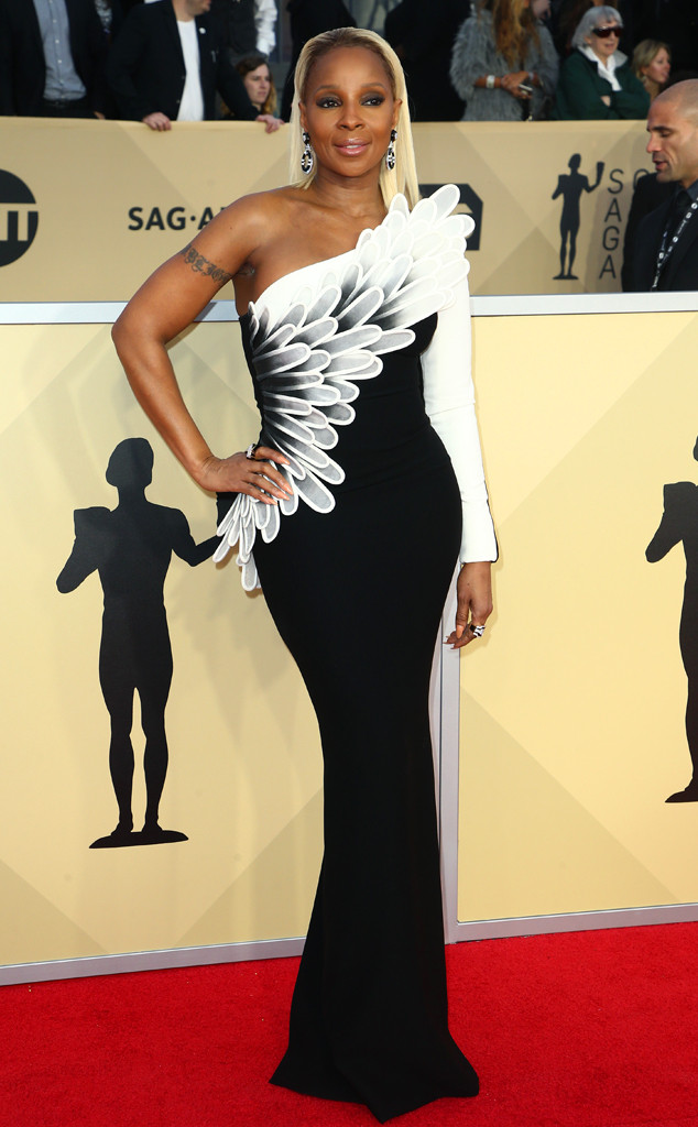 Mary J. Blige, 2018 SAG Awards, Red Carpet Fashions