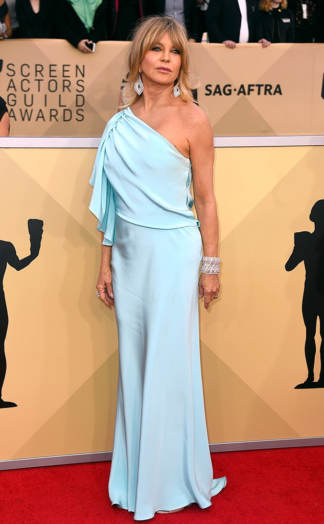 goldie hawn from 2018 sag awards red carpet fashion e news. Black Bedroom Furniture Sets. Home Design Ideas