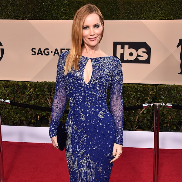 Leslie Mann From 2018 SAG Awards Red Carpet Fashion