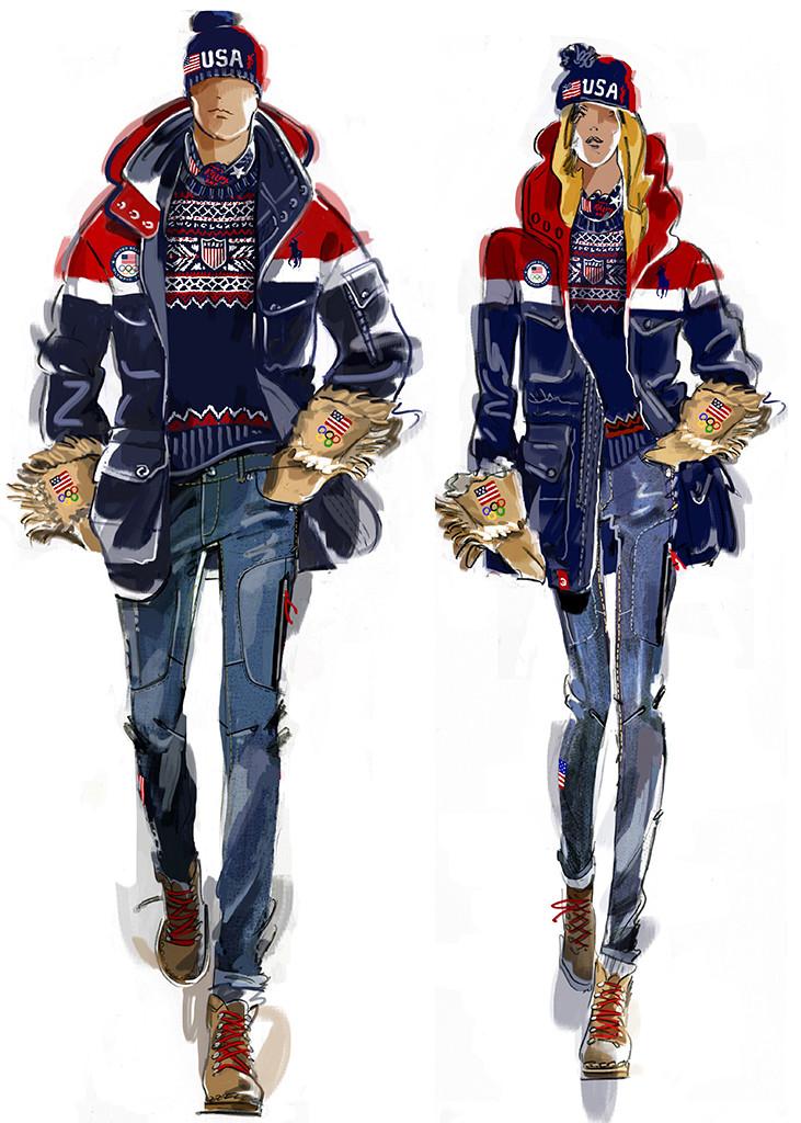 Team USA, 2018 Winter Olympics, Ralph Lauren, opening ceremony uniforms