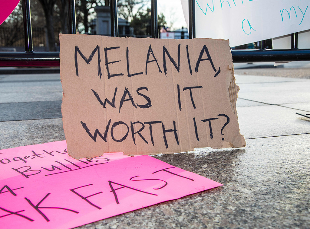 Melania Trump, Womens March Protest