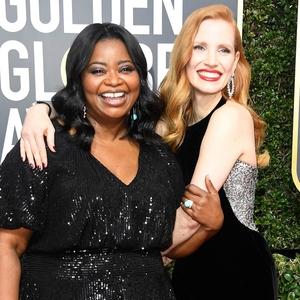 Octavia Spencer, Jessica Chastain, 2018 Golden Globes