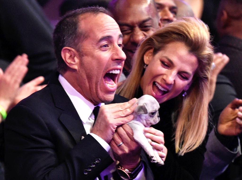 Jerry Seinfeld, Puppy, Grammy Awards, Candids