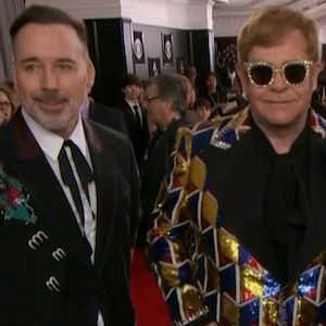 Elton John, David Furnish, 2018 Grammys