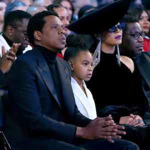 Jay-Z, Blue Ivy and Beyonce, 2018 Grammy Awards
