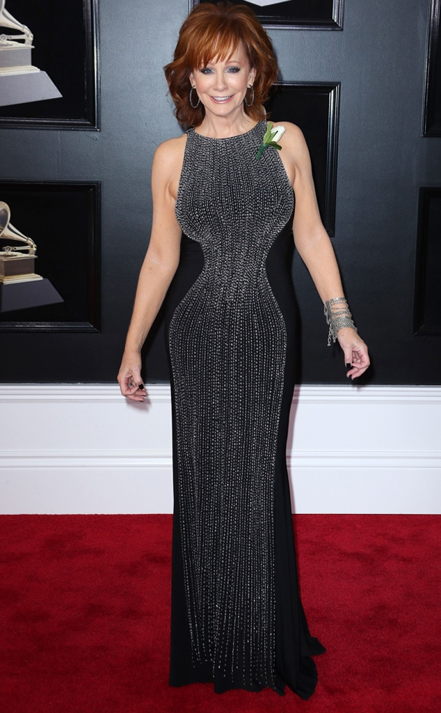 2018 Grammys Red Carpet Fashion Reba McEntire, 2018 Grammy Awards, Red Carpet Fashions