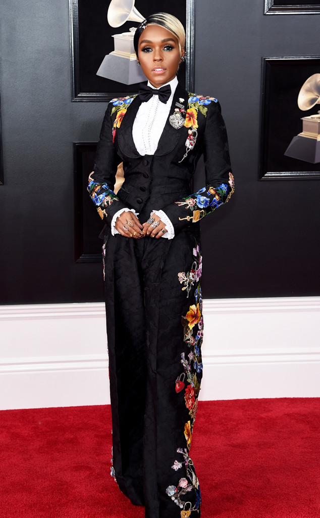 Janelle Monae, 2018 Grammy Awards, Red Carpet Fashions